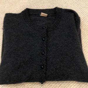 J crew dark grey wool blend cardigan XS